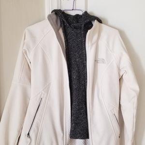 The Northface white jacket